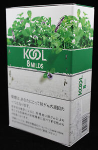 Kool 8 Milds Cigarette Tobacco Japan Collectible Metal Container (No Cigarettes)