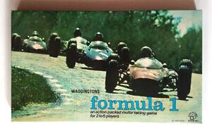 Formula 1 Board Game, Waddingtons, Vintage Retro 1960s, Grand Prix, One