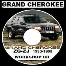 JEEP GRAND CHEROKEE 1993-1998 ZG-ZJ   2.5L 4.0L 5.2L 5.9L Workshop Repair CD