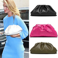 Rosie Huntington Whiteley Genuine Leather The Pouch Bag Clutch Cloud Woven Celeb