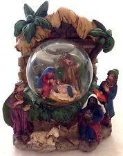 3D Nativity Scene Water Globe Holy Family Nativity Snow globe wise men