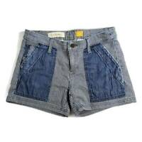 Anthropologie Pilcro & The Letterpress Womens Railroad Shorts Blue Striped 26