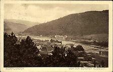 Bodenwerder Niedersachsen 1912 Partie Von der schönen Aussicht Oberweser Brücke