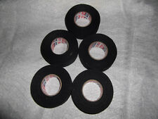 "Black Baseball Bat Tape 5 rolls 1.5""x11yds. * Cosmetic Seconds *"