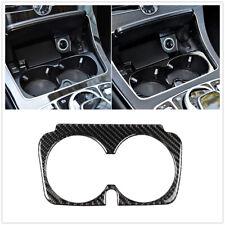 Cubierta de Fibra de Carbono Soporte para vaso de agua adorno blakc para Mercedes-Benz Clase C W205 Reino Unido