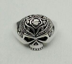 SUGAR SKULL Harley Skeleton Sterling Silver 925 Ring Davidson Biker Sizes 8