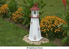 Amish-Made Replica Marblehead, Oh Lighthouse with Lighting - In 13 Sizes!