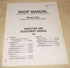 Kawasaki  65ZII Wheel Loader Inspection & Adjustment Shop Manual Isuzu 6BG1