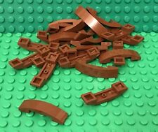 Lego X25 Reddish Brown Curved Slope 4x1 Double No Studs Smooth Bulk Parts Lot