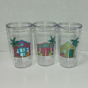 Set of 3 Beach House themed Tumblers 16 oz Tervis