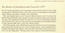 Information Card HISTORY of COLONIAL AMERICA 47 Battles of Lexington and Concord
