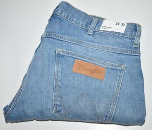 Wrangler Bryson Slim Skinny Regular Jeans Light Blue Wash Mens W34 L32 NEW TAGS