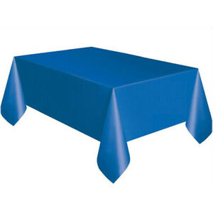 Plastic Tablecloth Rectangle Waterproof Stain Resistant Non-Stick 2 Table Covers