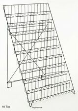 Wire Display Rack 10 Tier Trade Show Event Stand Magazine Book Pamphlet Holder