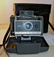 VTG Polaroid 340 Instant Film Camera w/ Case flash bulbs manual