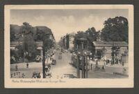 [71354] 1938 GERMAN POSTCARD TROLLEYS on BERLIN STREET SCENE