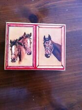 Vintage Playing Cards, Assembly, Boxed, 2 Sets, Horse Racing