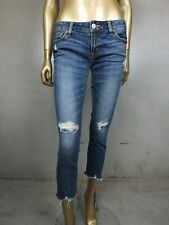MOUSSY DENIM JEANS : DISTRESSED BLUE JEANS PANTS : SIZE 27