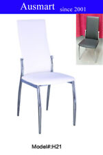 set of 2 PU leather Modern dining chairs High back seat