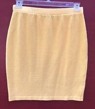 St John 6 Santana Knit Skirt Collection Yellow Pencil Straight Knee Length Knits