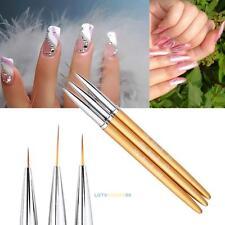 HOT 3PCS Nail Art UV Gel Design Painting Pen Brush for Salon Manicure DIY Tool