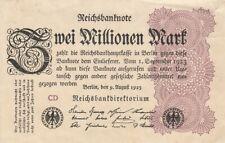 * Ro. 103c - 2 millones de marcos-Deutsches Reich - 1923-Fz: CD *