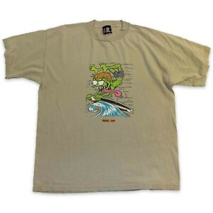 VINTAGE PEARL JAM T-SHIRT SIZE MEN'S XL - 90s OUT OF CONTROL SURF STREETWEAR TEE