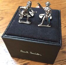 PAUL SMITH SILVER TONE COWBOY & INDIAN/WESTERN FIGURES CUFFLINKS BNIB