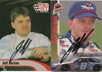 (2) Jeff Burton PRO SET POWER NASCAR WINSTON/BUSCH  signed cards *FREE SHIPPING*