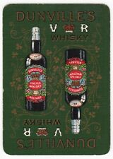 Playing Cards 1 Swap Card - Old Antique Wide Linen DUNVILLE'S VR WHISKY Bottle