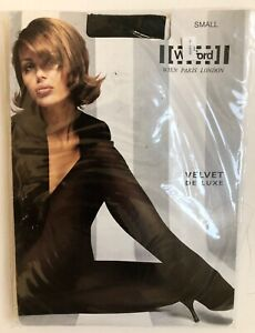 New Wolford Velvet De Luxe Tights Small Black