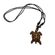 Puerto Rico Tainos Hieroglyph Coqui Taino & Turtle Symbol Pendant Necklace UNSEX