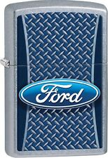 Zippo 2016 Catalog NEW Ford Grid Street Chrome Windproof Lighter 29065