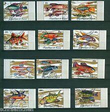 Guinea 571 - 582  , o , Motiv Fische