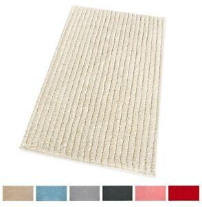 Tappeto bagno camera letto 100% cotone morbido assorbente elegante antiscivolo