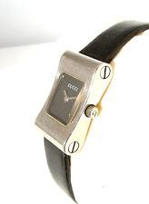 GUCCI 2300 L Edelstahl Damen Uhr mit GUCCI Box / GUCCI WATCH Leather Band