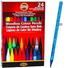 Koh-I-Noor Progresso Woodless Colour Pencils FA8758.24, 24 Color Set