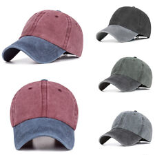 UK Unisex Baseball Cap Denim Vintage Snapback Trucker Adjustable Hip-Hop Men Hat