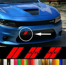 Custom Stripes For Dodge Charger Front Bumper Custom Hash Decal
