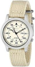 Seiko 5 Mens Watch Automatic Beige Canvas Dial SNK803K2 SNK803K SNK803 RRP£149