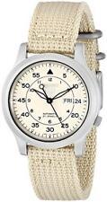 Seiko 5 Reloj Para Hombre Automático Esfera De Color Beige Lona SNK803K2 SNK803K SNK803 RRP £ 149