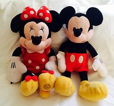 "Authentic Disney MICKEY and MINNIE MOUSE Plush Doll Toys 18"" Tall Stuffed Toy"