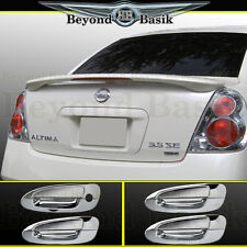 Fits 2002-2006 Nissan Altima Factory Style Spoiler + Chrome Door Handle Covers