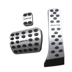 Foot Brake Pedal Pads Covers AMG for Mercedes Benz C E S GLK SLK CLS SL Sport