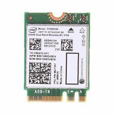 Intel Dual Band Bluetooth Wireless-AC 3165 BT4.0 2.4G/5G 433M NGFF NGW Net Card