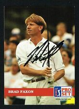 Brad Faxon #113 signed autograph auto 1992 Pro Set Golf Trading Card