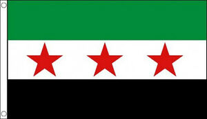 5' x 3' Syria Republic Flag Old Syrian 3 Stars National Council Banner