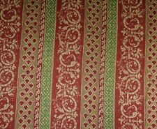 """TRIBAL STRIPE RED GREEN WOVEN HEAVY UPHOLSTERY FABRIC BY THE YARD 56""""W"""