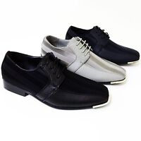 Mens Dress Casual Shoes Tuxedo Oxford Fashion Lace-Up Formal Wedding Party Sizes