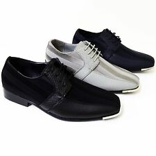 New Men's Dress Casual Shoes Tuxedo Oxford Fashion Lace-Up Formal Wedding Party